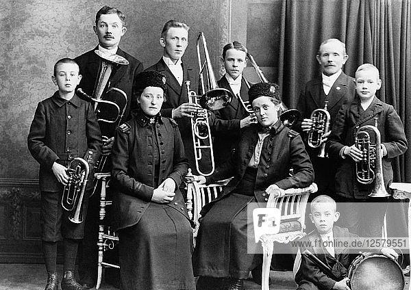Salvation Army musicians  Landskrona  Sweden  c1910. Artist: Unknown