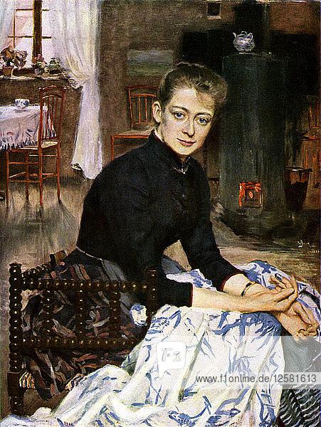 Konstnarens Wife  1886 (1945). Artist: Sven Richard Bergh