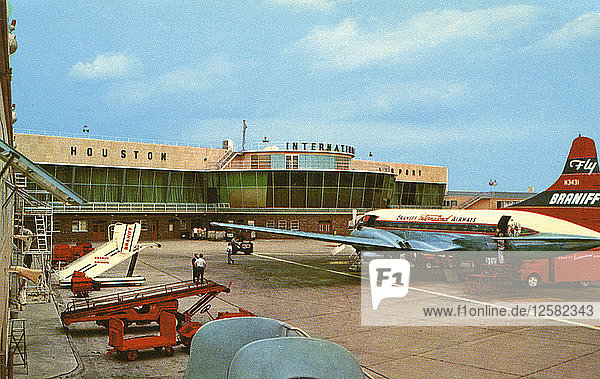 Houston International Airport  Houston  Texas  USA  1956. Artist: Unknown