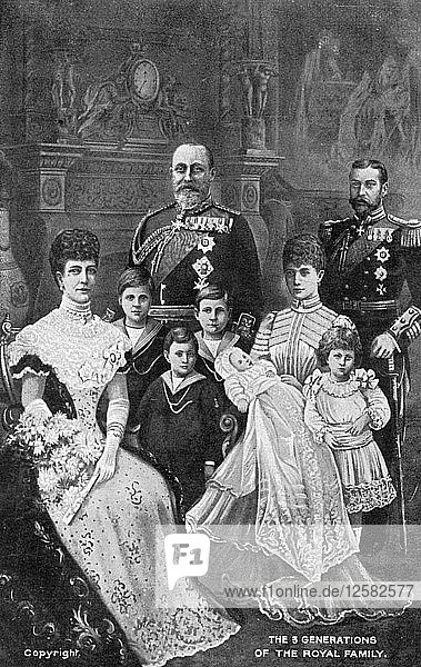 Three generations of the British Royal Family  c1903. Artist: Unknown