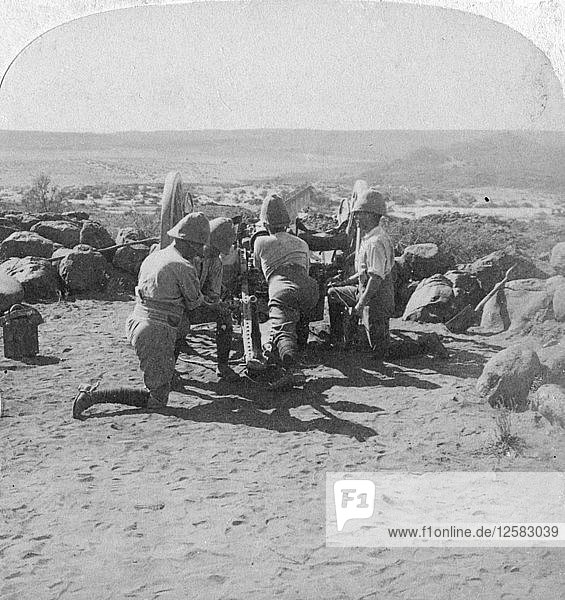 British artillery in action  South Africa  2nd Boer War  6 February 1900. Artist: Underwood & Underwood