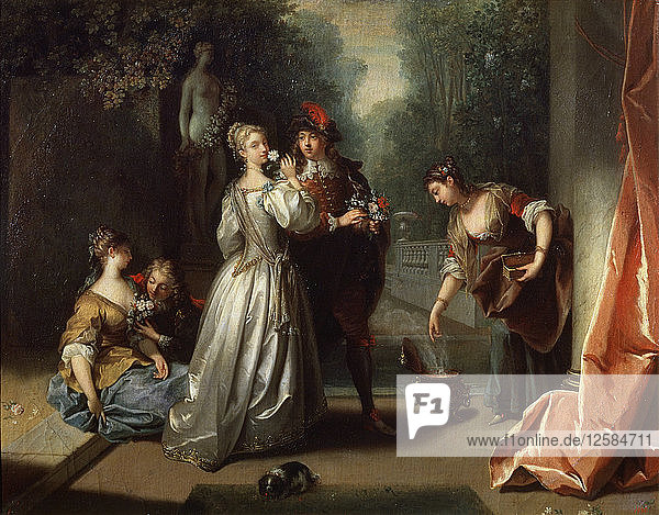 Smell (from the series The Five Senses)  late 1720s or early 1730s. Artist: Jean Raoux