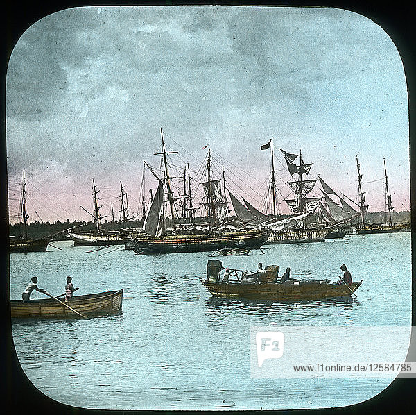 Colombo Harbour  Ceylon  late 19th or early 20th century. Artist: Unknown