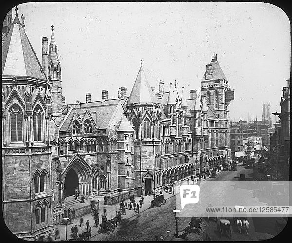 New Law Courts  London  late 19th century(?). Artist: Unknown