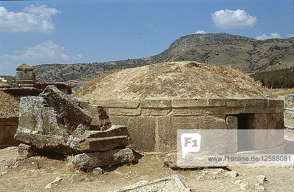 Hierapolis was built during the 2nd C BC and become part of the Roman empire in 129 BC.