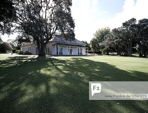 The Treaty House at Waitangi,  home of the British governing Resident.