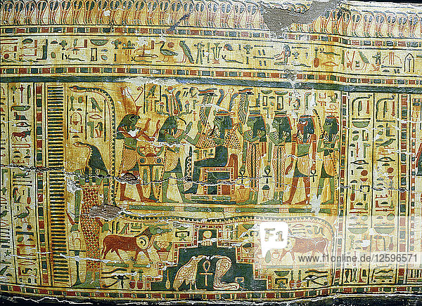 Detail from coffin of Nespawershepi  chief scribe of the Temple of Amun.