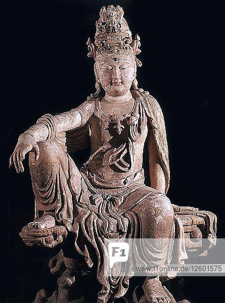 Chinese statuette of Kuan-Yin as a Bodhisattva  12th century. Artist: Unknown