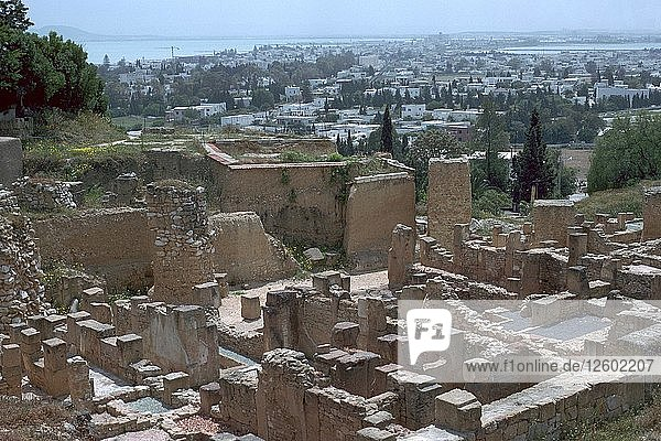 Punic and Roman streets on Byrsa hill in Carthage  2nd century BC. Artist: Unknown