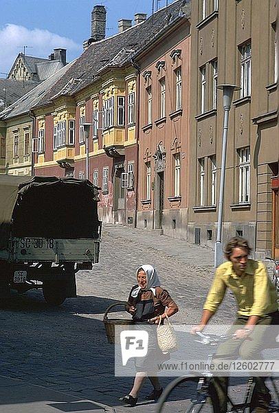 Street scene in Gyor  Hungary. Artist: CM Dixon Artist: Unknown