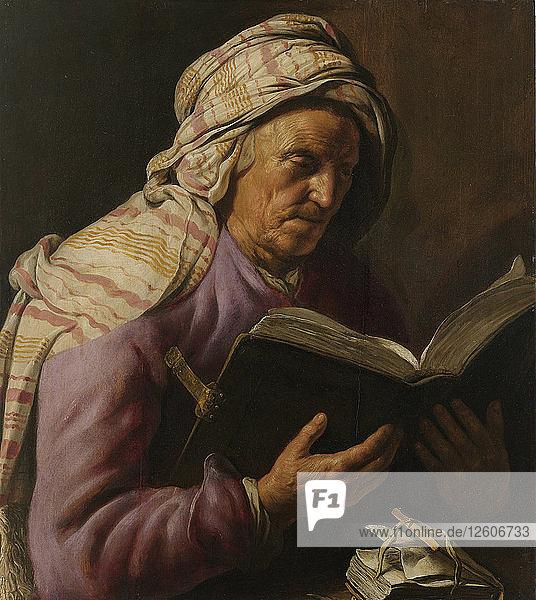 Old Woman Reading  1626-1633. Artist: Lievens  Jan (1607-1674)