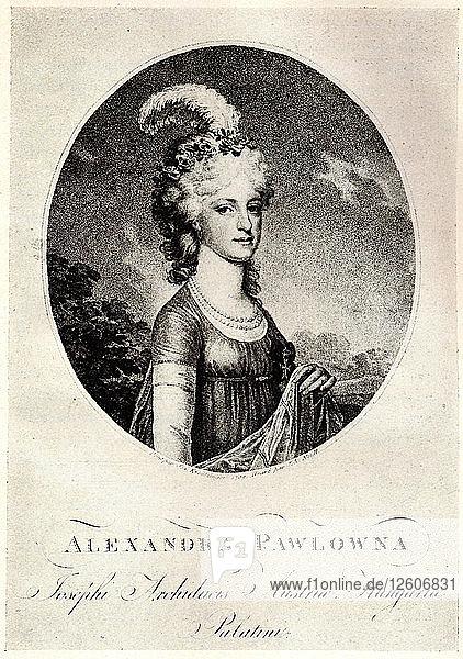 Portrait of Grand Duchess Alexandra Pavlovna (1783-1801)  Early 19th cen.. Artist: Anonymous