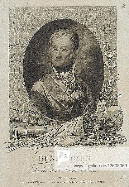 Portrait of Count Levin (Leonty) August Theophil von Bennigsen (1745-1826)  1807. Artist: Vendramini  Francesco (1780-1856)