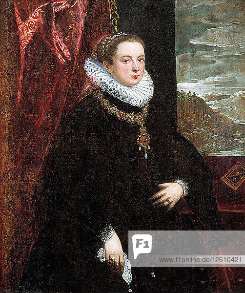 Lady in Black  1560s. Artist: Tintoretto  Domenico (1560-1635)