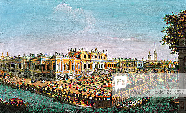 The Summer Palace in St. Petersburg  1753. Artist: Anonymous