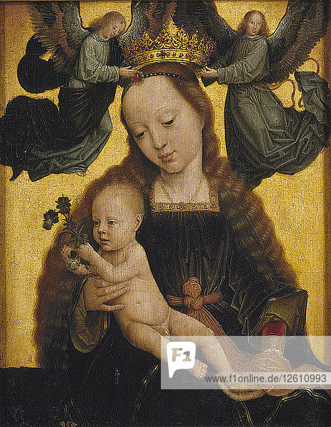 The Virgin and Child with Angels  c. 1520. Artist: David  Gerard (ca. 1460-1523)
