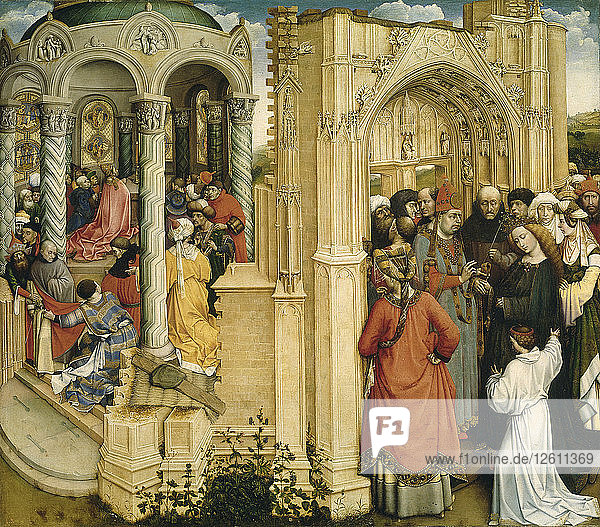 The Marriage of Mary and Joseph  c.1420. Artist: Campin  Robert (ca. 1375-1444)