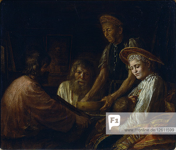 Peasant Meal  1774. Artist: Shibanov  Mikhail (?-after 1789)