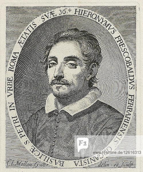 Portrait of the composer Girolamo Frescobaldi (1583-1643)  1634. Artist: Mellan  Claude (1598-1688)