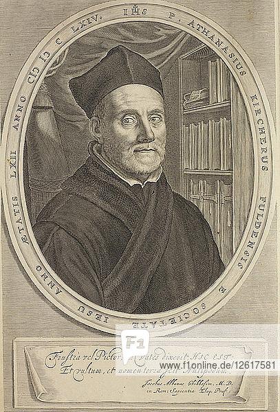 Portrait of Athanasius Kircher (1602-1680)  1664. Artist: Bloemaert  Cornelis Abrahamsz.  II (1603-1692)