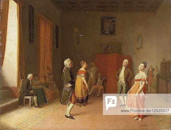 The dance  c1871. Artist: Dioscoro Teofilo de la Puebla y Tolin