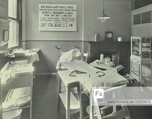 A theatre at the Thavies Inn Hospital  London  1930. Artist: Unknown.