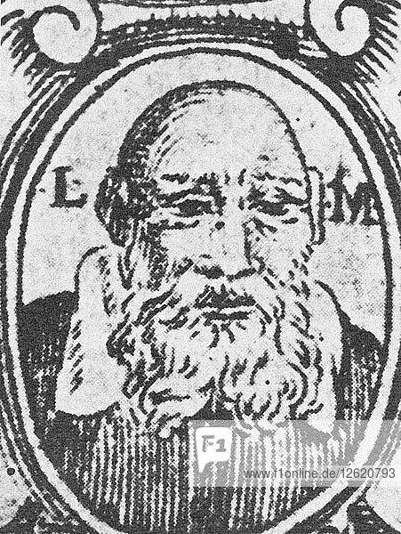 Self-Portrait from Chaje Jehuda (Life of Yehudah). Artist: Leon of Modena (1571-1648)