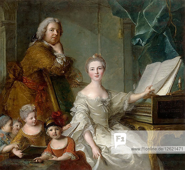 Jean-Marc Nattier and his family. Artist: Nattier  Jean-Marc (1685-1766)