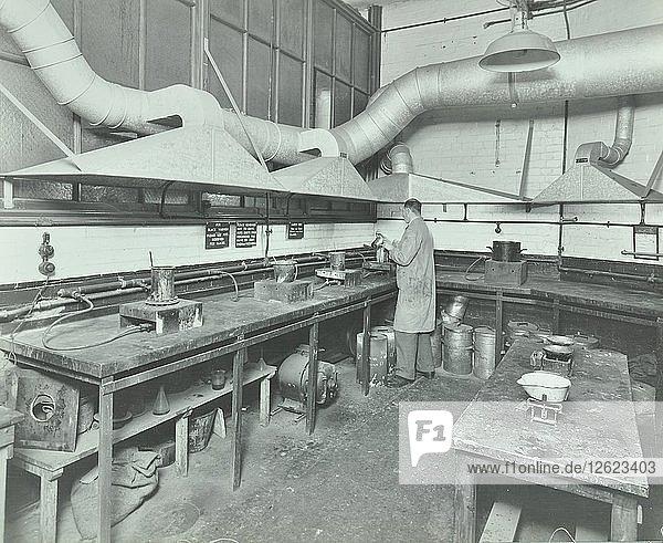 Varnish Laboratory  Borough Polytechnic  Southwark  London  1936. Artist: Unknown.
