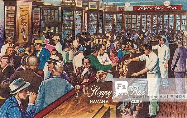 Sloppy Joes Bar  Havana  Cuba  1951. Artist: Unknown
