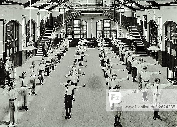Exercise drill  Crawford Street School  Camberwell  London  1906. Artist: Unknown.