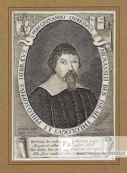 Menasse ben Israel (1604-1657). Artist: Italia  Salom (ca 1619-ca 1655)