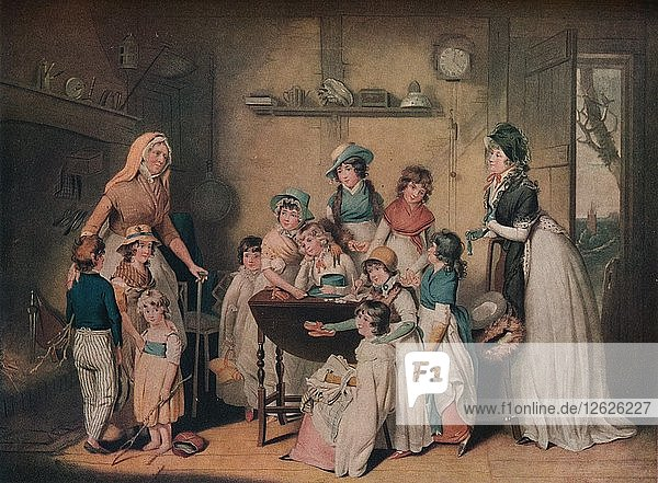 The Sailors Orphans: or The Young Ladies Subscription  1800  (1919). Artist: William Ward