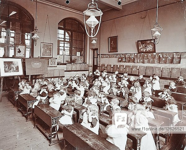 Classroom scene  Hugh Myddelton School  Finsbury  London  1906. Artist: Unknown.