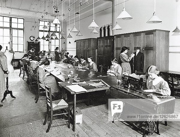 Tailoring class  Barrett Street Trade School for Girls  London  1915. Artist: Unknown.