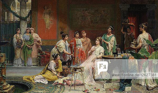 Toilette of a Roman Lady. Artist: Giménez Martín  Juan (1855-1901)