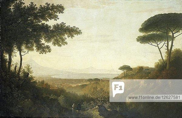 The Bay of Naples  1782. Artist: Thomas Jones.