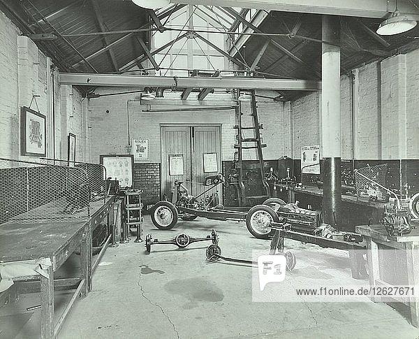 Motor car engine laboratory  Borough Polytechnic  Southwark  London  1936. Artist: Unknown.
