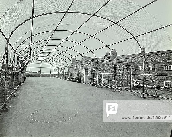 Playground on roof  School of Building  Brixton  London  1936. Artist: Unknown.