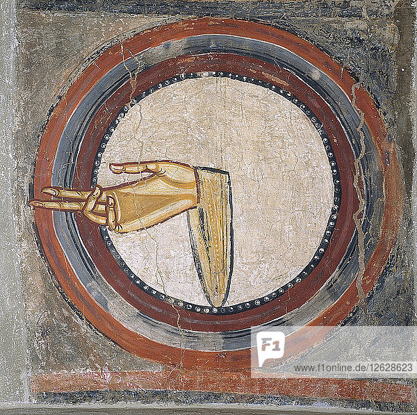 The Hand of God (from Sant Climent de Taüll). Artist: Master of Tahull (Master of Sant Climent de Taüll) (active 12th century)