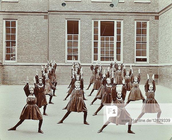 Girls exercise drill  Montem Street School  Islington  London  1906. Artist: Unknown.