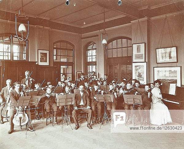 School orchestra  Cromer Street School/ Argyle School  St Pancras  London  1906. Artist: Unknown.