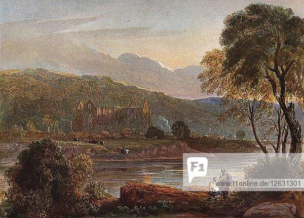 Tintern Abbey  c1840. Artists: David Cox the elder  Walter de Clare.
