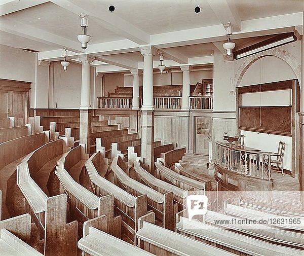 Lecture theatre  London Day Training College  Camden  1907. Artist: Unknown.