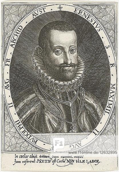 Portrait of Archduke Ernest of Austria (1553-1595)  ca 1595-1597. Artist: Custos  Dominicus (1560-1612)