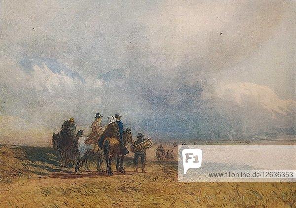 Crossing the Sands  Ulverston  c1834. Artist: David Cox the elder.