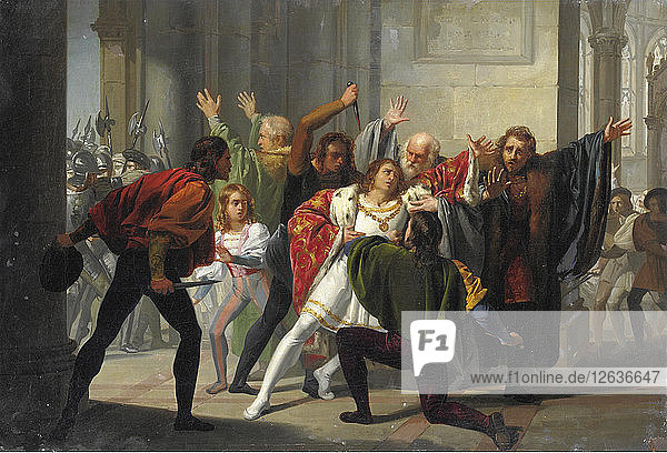 The Pazzi conspiracy. Artist: Ussi  Stefano (1822-1901)