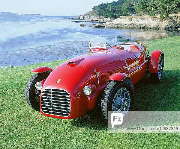 1947 166 Spyder Corsa. Artist: Unknown.
