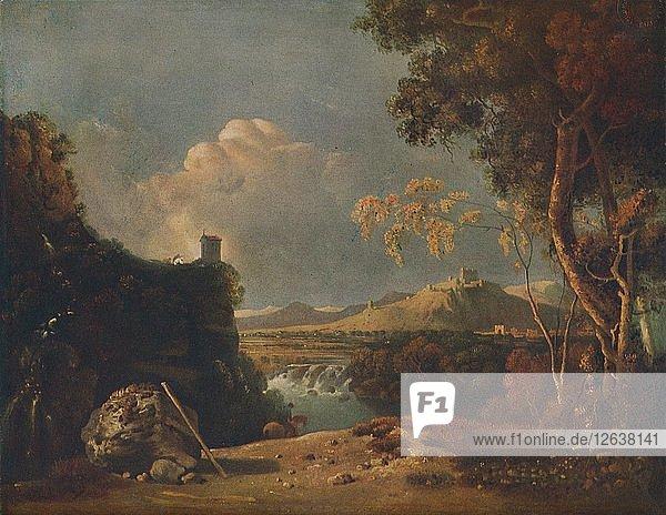 The White Monk - IV (Italian Landscape  with White Monk)  c1752. Artist: Richard Wilson.