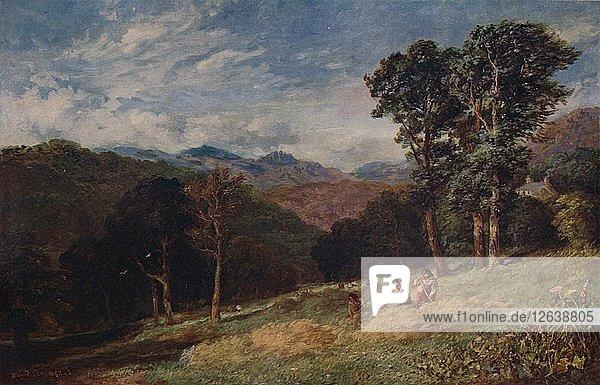 Haymaking  near Conway  c1852. Artist: David Cox the elder.